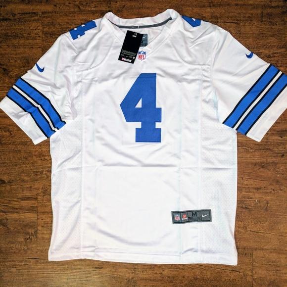 d8bf8cabb Nike Shirts | Mens Dallas Cowboys Dak Prescott White Jersey | Poshmark